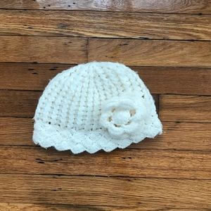 Other - Handmade ivory toddler knit hat
